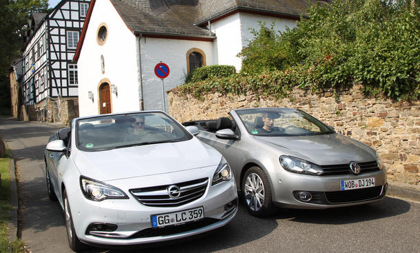 Opel Cascada 1.6 SIDI Turbo Vergleichstest VW Golf Cabriolet 1.4 TSI Bilder technische Daten