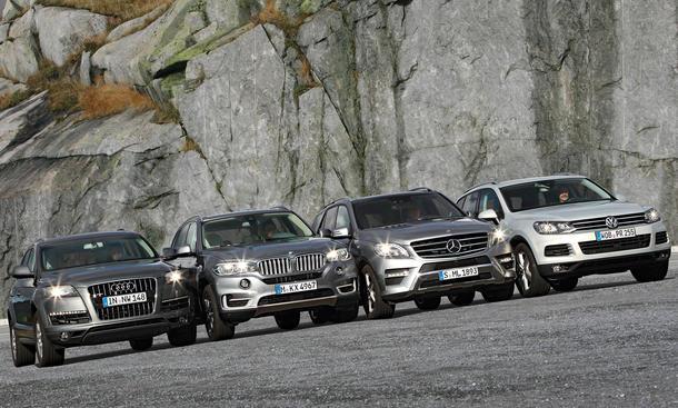 Oberklasse Suvs Im Vergleich Bmw X5 Vs Audi Q7 Mercedes Ml Vw