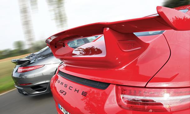 Porsche 911 GT3 911 Turbo S Vergleichstest Bilder technische Daten