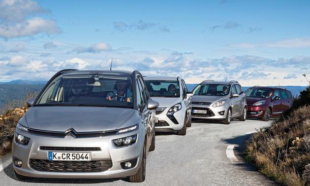 Citroën Grand C4 Picasso, Ford Grand C-MAX, Opel Zafira Tourer, Renault Grand Scénic - Kompaktvan-Test