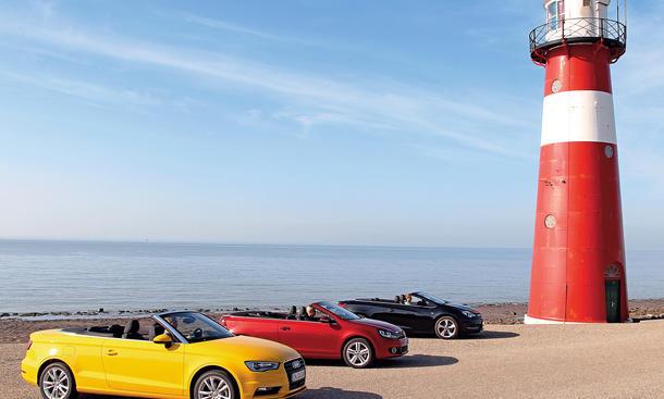Audi A3, Opel Cascada, VW Golf - Kompakte Cabriolets im Test