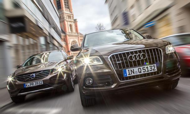 Audi Q5 2.0 TDI quattro, Volvo XC60 D4 AWD Vergleichstest Mittelklasse-SUV