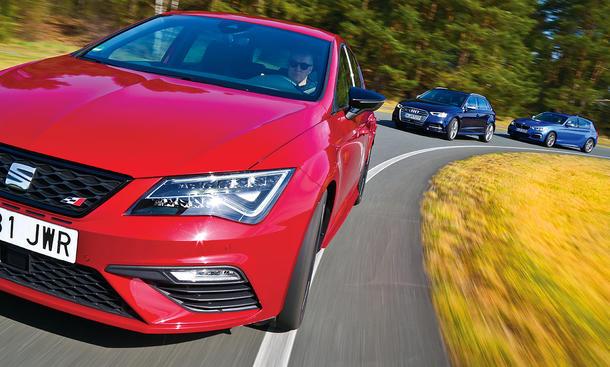 audi s3 sportback/bmw m140i/seat leon cupra 300: test | autozeitung.de