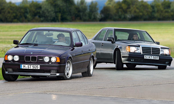 BMW M5 vs Mercedes 500 E