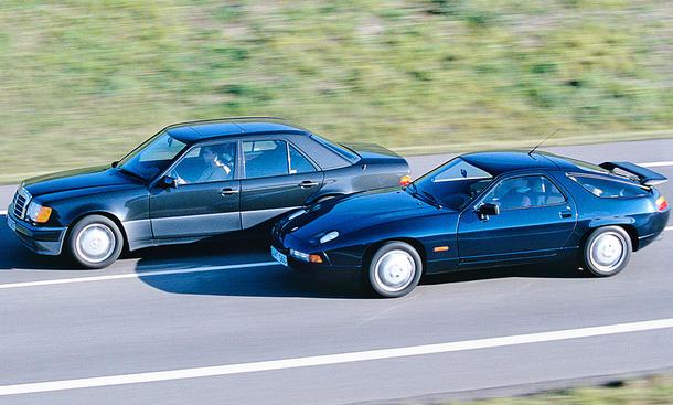 Vergleichstest: Mercedes 500 E vs. Porsche 928 S4