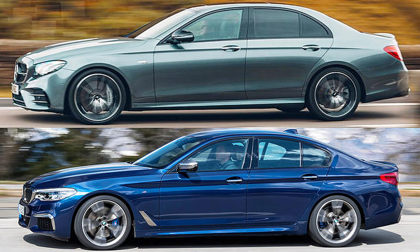 Mercedes-AMG E 53/BMW M550i xDrive: Vergleich
