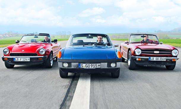 Fiat 124/Porsche 914/Triumph TR6: Classic Cars