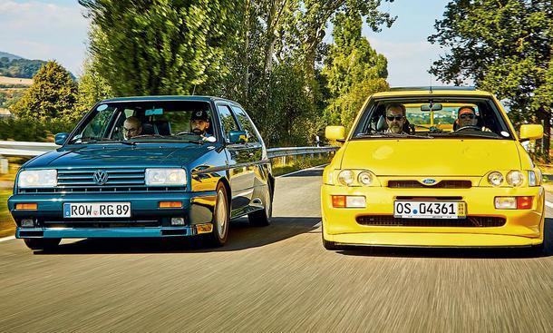 VW Golf II Rallye G60 vs Ford Escort RS Cosworth – Rallye-Stars von gestern
