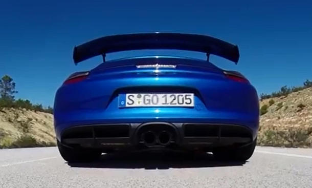 Porsche Cayman GT4 im Video