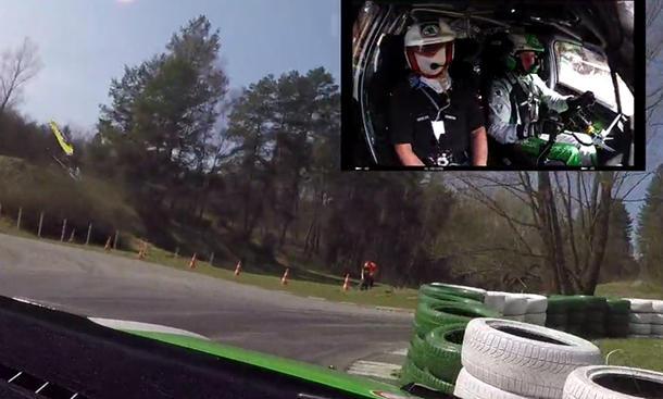 Mitfahrt im Rallyeauto Skoda Fabia R 5