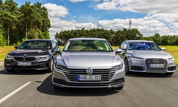 vw arteon/audi a6/bmw 530i: test | autozeitung.de
