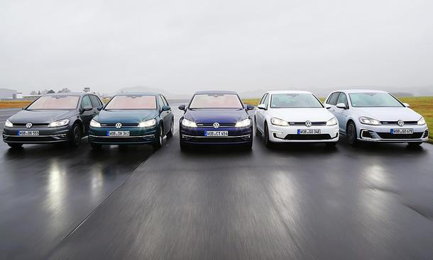 VW Golf: Antriebsmöglichkeiten Vergleich