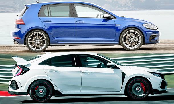 VW Golf R/Honda Civic Type R