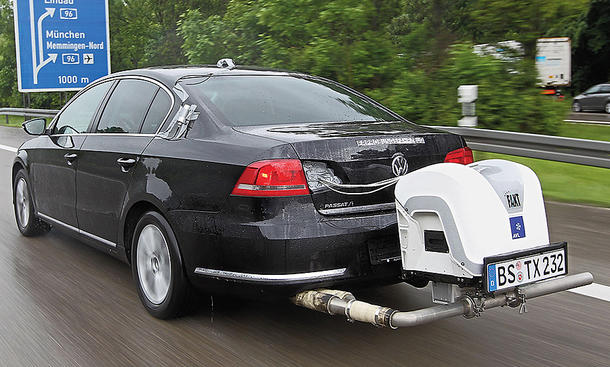 VW Passat im Abgastest