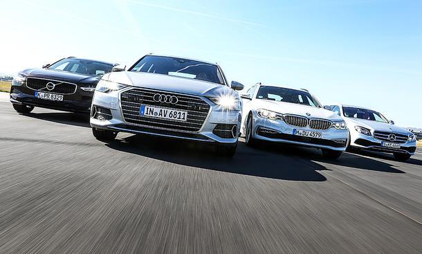 Audi A6 Avant/BMW 520 d/Mercedes E 220 d/Volvo V90: Test