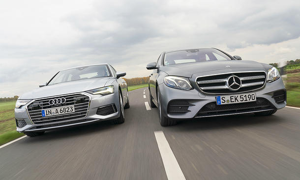 Audi A6/Mercedes E-Klasse: Test