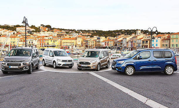 Citroën Berlingo/Opel Combo/Ford Tourneo/VW Caddy: Test
