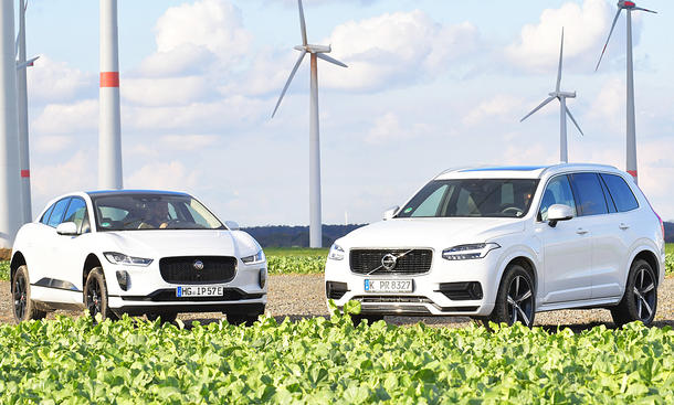Jaguar I-Pace/Volvo XC90: Test