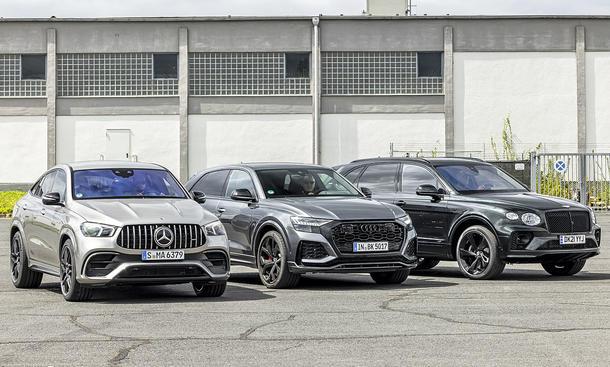 Mercedes-AMG GLE 63 S Coupé/Audi RS Q8/Bentley Bentayga V8