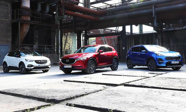Kia Sportage/Mazda CX-5/Opel Grandland X: Test