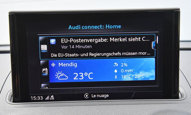Audi A3 Sportback: Connectivity