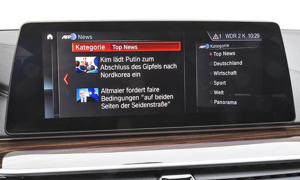 BMW 520d Touring: Connectivity