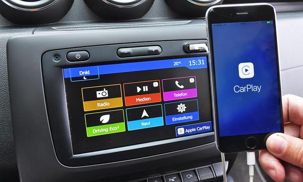 Dacia Duster: Connectivity