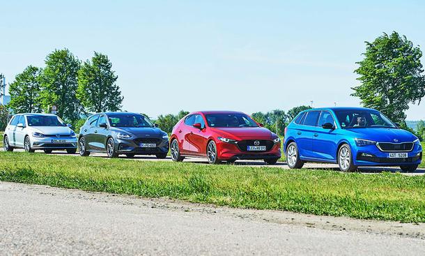 VW Golf/Ford Focus/Mazda3/Skoda Scala