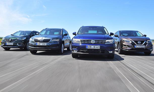 Nissan Qashqai/Renault Kadjar/Skoda Karoq/VW Tiguan