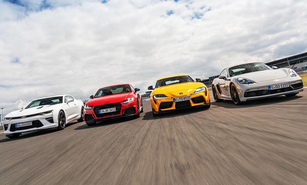 Chevrolet Camaro/Audi TT RS/Toyota GR Supra/Porsche 718 Cayman GTS