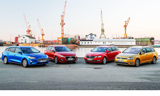 Ford Focus Turnier/Hyundai i30 Kombi/Skoda Octavia Combi/VW Golf Variant: Test