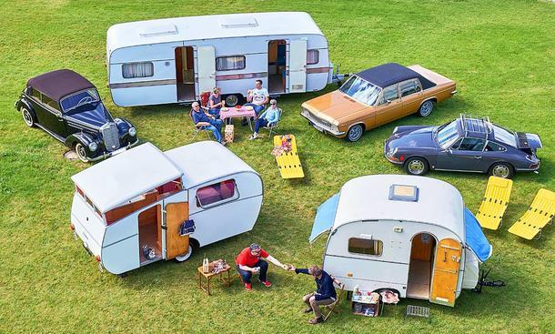 912/220/Diplomat mit Wohnwagen: Classic Cars