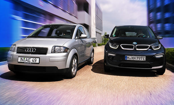 Audi A2/BMW i3: Effizienz-Konzepte im Vergleich