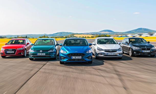 audi a3/bmw 1er/ford focus/opel astra/vw golf: test | autozeitung.de