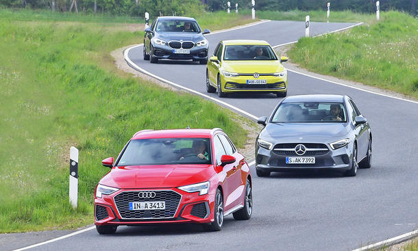 Audi A3/Mercedes A-Klasse/VW Golf/BMW 1er