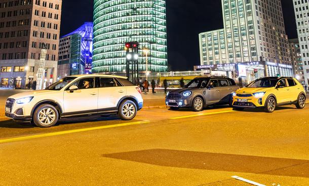 Audi Q2 30 TFSI/Mini Cooper Countryman/Kia Stonic 1.0 T-GDI 48 Volt