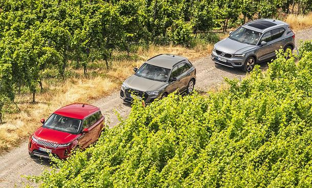 Range Rover Evoque/Audi Q3/Volvo XC40