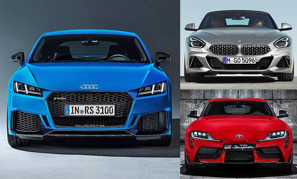Audi TT RS Facelift/BMW Z4 M40i/Toyota Supra: Vergleich