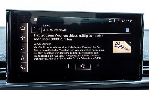 Audi A4 Avant: Connectivty
