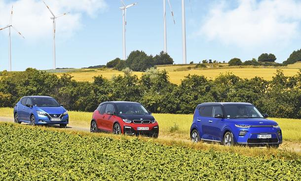 Nissan Leaf e+/BMW i3s/Kia e-Soul