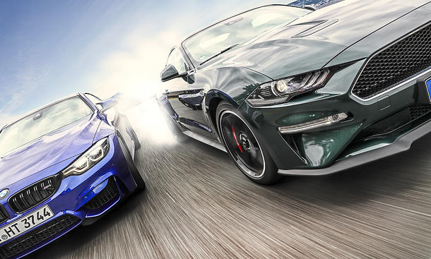 BMW M4 Competition-Paket/Ford Mustang Bullitt: Test