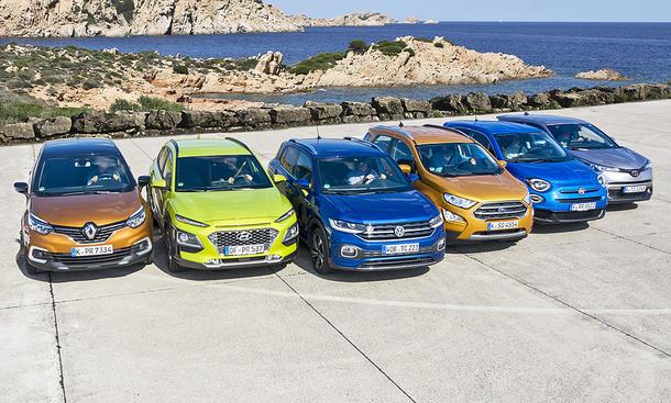 Renault Captur/Hyundai Kona/VW T-Cross/Ford EcoSport/Fiat 500X/Toyota C-HR
