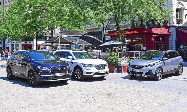 DS7 Crossback/Peugeot 5008/Renault Koleos: Test