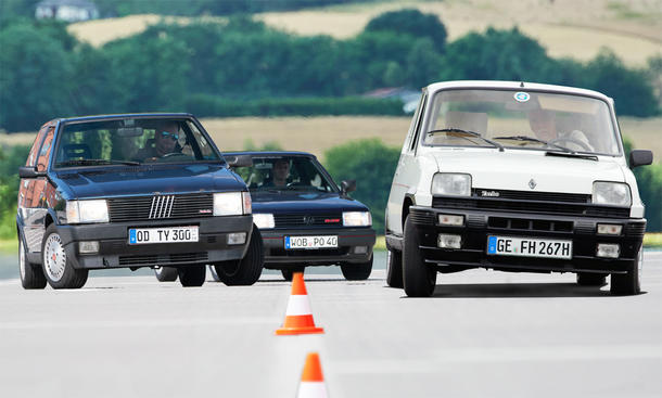 Fiat Uno Turbo/Renault 5 Alpine Turbo/VW Polo G40: Vergleich