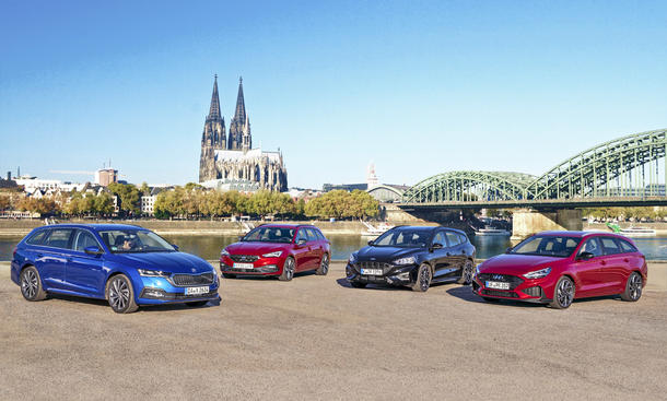 Skoda Octavia Combi/Hyundai i30 Kombi/Ford Focus Turnier/Seat Leon Sportstourer