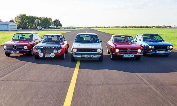 VW Golf/Renault 17/Alfa Romeo GT/Lancia Fulvia/BMW 1600: Classic Cars