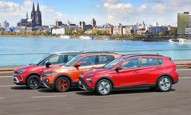 Opel Crossland/VW T-Cross/Hyundai Bayon