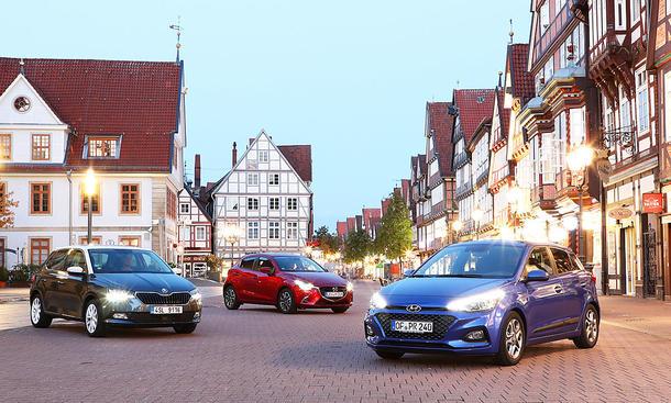 Skoda Fabia/Mazda2/Hyundai i20: Test