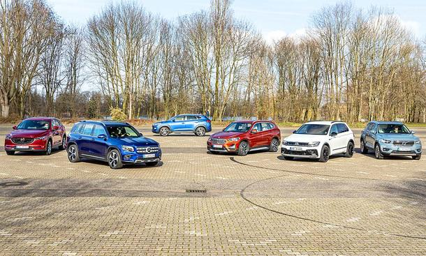 Mazda CX-5/Mercedes GLB/Hyundai Tucson/BMW X1/VW Tiguan/Volvo XC40