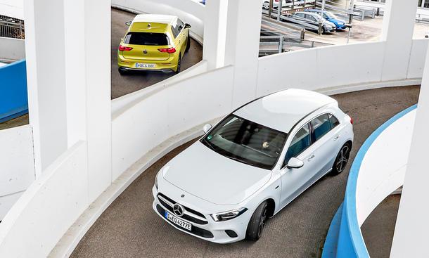 VW Golf eHybrid/Mercedes A 250 e